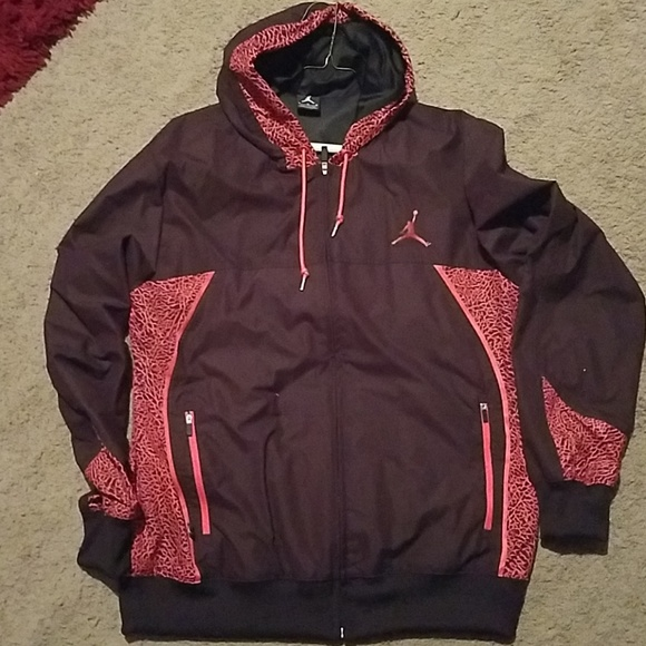 5581aeb4233 Jordan Jackets & Coats | Air Retro 3 Crimson Windbreaker | Poshmark